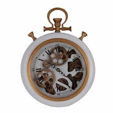 traditional wall clock with golden accents pure white u2013 modern
