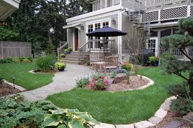 exterior design front yard ideas and concrete pathway in