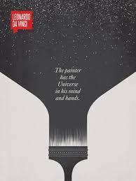 ryan mcarthur leonardo da vinci minimalist poster quote famous quotes