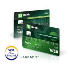 prepaid debit cards no fees td go the reloadable prepaid card for td bank