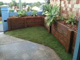 Retaining Wall Design Ideas by Trendy Ideas Timber Retaining Wall Designs Domestic Landscaping