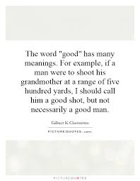 the word has many meanings for exle if a were to