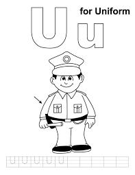 u for uniform alphabet coloring pages free alphabet coloring