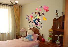 wall stickers home decor wall stickers romantic couple bike travel decoration wall hangings