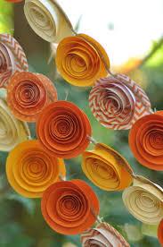 fall garland garlands fall garland thanksgiving garland paper flower garland