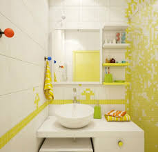 Gray Yellow Bathroom - excellent blue and yellow bathroom decoratingas grey black white