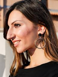 black ear studs black ear studs hoop earrings whatsmode