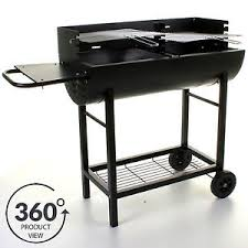 barbecue cuisine bbq barbecue half drum barrel charcoal grill outdoor cooking patio