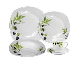 Corelle Square 30 Piece Dinnerware Set Lorren Home Trends Porcelain 20 Piece Square Dinnerware Set