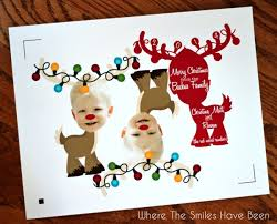 reindeer photo ornament card and giveaway