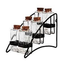 Contemporary Spice Racks Amazon Com Modern Design Herb Tea U0026 Spice Storage Rack W 6
