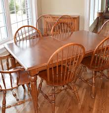 Windsor Dining Room Chairs Ethan Allen Windsor Dining Room Set Ebth