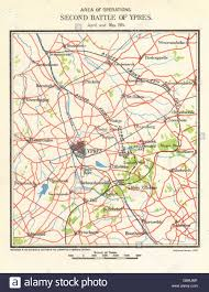 Ww1 Map Ww1 Western Front Second Battle Of Ypres April May 1915 Allied