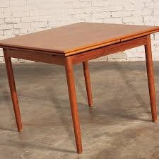 sold u2013 danish modern teak square expanding dining table