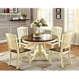 Amazoncom White Table  Chair Sets  Kitchen  Dining Room - Dining room sets white
