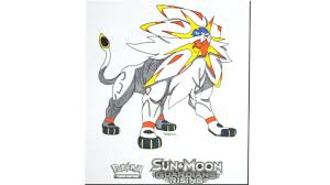 let u0027s color 12 pokemon sun u0026 moon guardians rising solgaleo