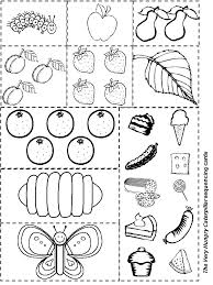 the very hungry caterpillar sequencing kid u0027s learning activities
