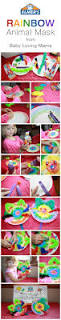 rainbow animal mask craft tutorial with elmer u0027s early learners