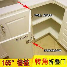 how to adjust corner kitchen cabinet hinges 115 135 165 degree hinges linkage folding two door corner special large angle special kitchen furniture cupboard corner hinge