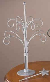 12 arm ornament tree painted silver finish