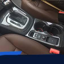 audi q3 modified carbon fiber car water cup holder frame cover trim strips auto