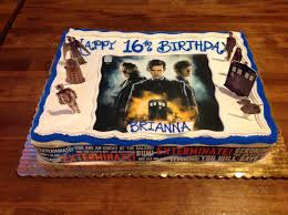doctor who birthday cake by immahobbit on deviantart