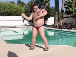Speedo Meme - big bear speedo dancing fat animated gif popkey
