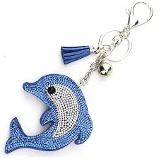 classic dolphin ring holder images Mix colors cute dolphin keychain rhinestone crystal keyring car jpg
