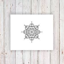 kleinen mandala temporäre tattoos tattoo mandala von