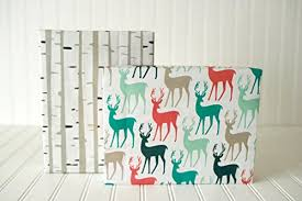 birch wrapping paper christmas reindeer birch trees 6 sheet value pack eco friendly