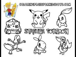 coloringbuddymike starter pokemon coloring pages print