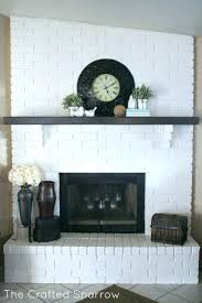 painting brick fireplace diy grey one color with chalk paint