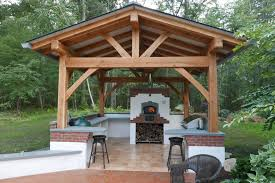 outdoor kitchen roof ideas custom outdoor kitchen hearth timber pertaining to outdoor kitchen