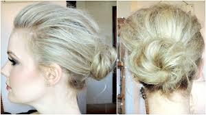 hollywood inspired volumized bun tutorial for fine hair youtube