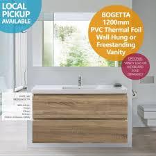 Free Standing Vanity Compact Corner White Gloss Polyurethane Freestanding Vanity