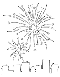 printable fireworks coloring pages coloring