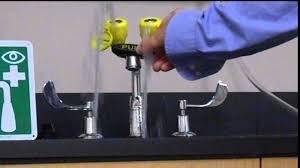 Faucet Mounted Eyewash Station Standard Eyewash Station Youtube