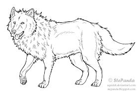 free lineart wolf stepandy deviantart