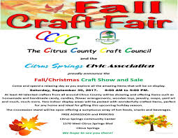 fall craft fair citrus springs