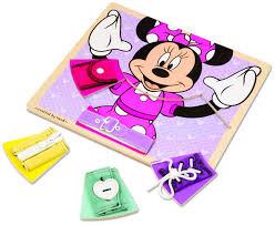 amazon melissa u0026 doug disney minnie mouse wooden basic skills