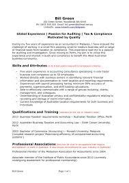 Resume Template Accountant Example Of Resume Australia Australian Resume Samples Cover