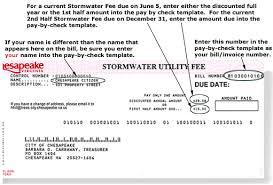 stormwater utility fee bill