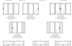 Sliding Patio Door Dimensions Patio Door Sizes For Standard Door Size Standard Bedroom