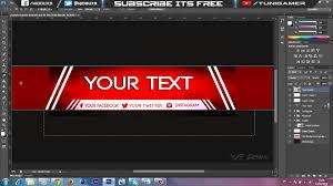 speedart free amazing youtube channel banner template direct
