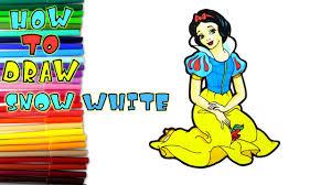 draw snow white art kids learn draw