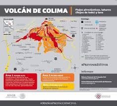 Colima Mexico Map by Map Area Near The Colima Volcano In Mexico Which Has Reported