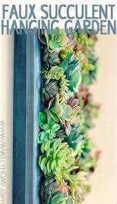 diy fake succulent hanging garden tutorial