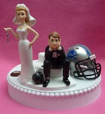 football wedding cake toppers detroit lions football themed key wedding cake topper garter