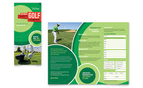 golf brochure templates golf tournament tri fold brochure template