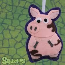 pig ornament felt farm animal decoration squshies